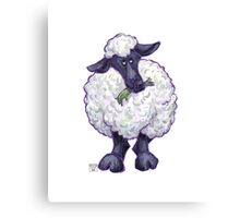 Animal Parade Sheep Silhouette Canvas Print