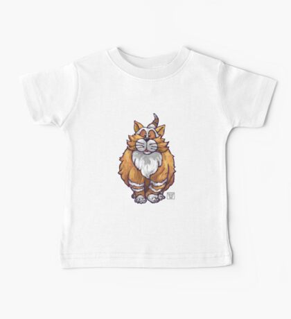 Animal Parade Ginger Cat Silhouette Baby Tee