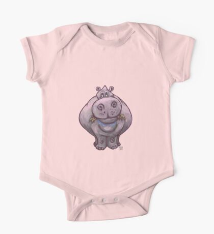 Animal Parade Hippopotamus Silhouette One Piece - Short Sleeve