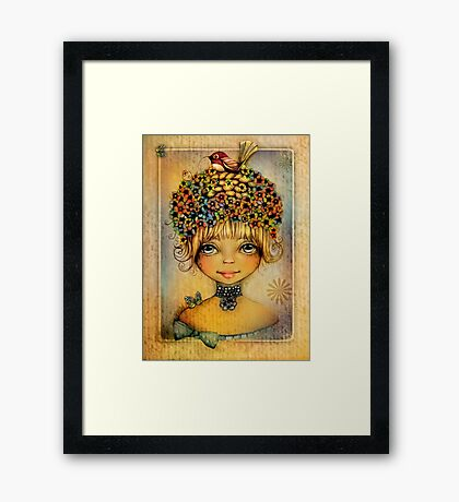 Pretty as a Picture Framed Print