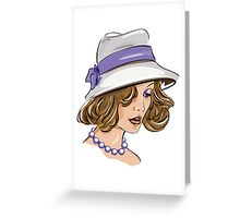 Fashion woman portrait  Greeting Card