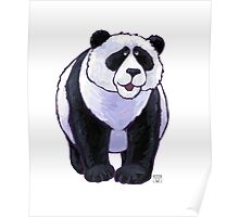 Animal Parade Panda Bear Silhouette Poster