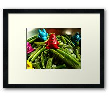 French beans... Framed Print