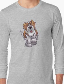 Animal Parade St. Bernard Silhouette Long Sleeve T-Shirt