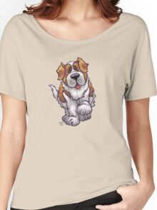 Animal Parade St. Bernard Silhouette Women's Relaxed Fit T-Shirt