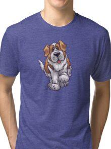 Animal Parade St. Bernard Silhouette Tri-blend T-Shirt