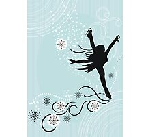 ice skater  Photographic Print