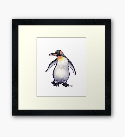 Animal Parade Penguin Silhouette Framed Print