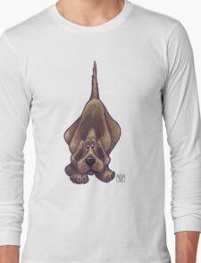 Animal Parade Hound Dog Silhouette Long Sleeve T-Shirt