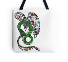 Serpent with Wings of Eyes Tote Bag