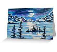 RIBBON OF MOONLIGHT AT SPIRIT ISLAND LAKE Greeting Card