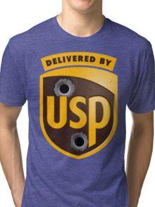 Delivered By USP (Official) Tri-blend T-Shirt