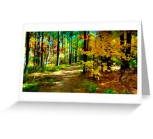 Deep In The Woods of Light & Color Greeting Card