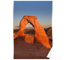 Delicate Arch at Sunset Poster