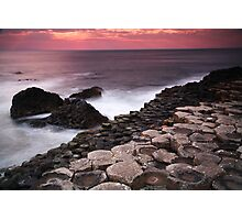 Giant's Causeway - Sunset Photographic Print