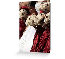 Bride and Bridesmaids Greeting Card