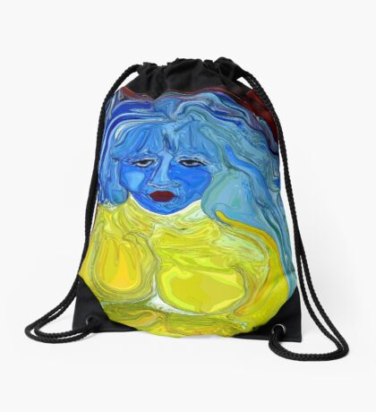 Blue, I am Blue, Just as Blue as I can be Drawstring Bag