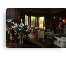 Castle Leslie Drawing Room. Canvas Print