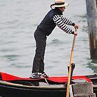 Venice Gondolier at Sunset by Pam Blackstone