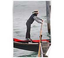 Venice Gondolier at Sunset Poster