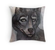 Old Wolf Throw Pillow