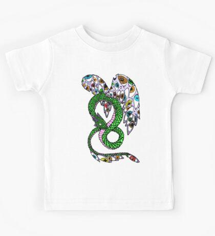 Serpent with Wings of Eyes Kids Tee