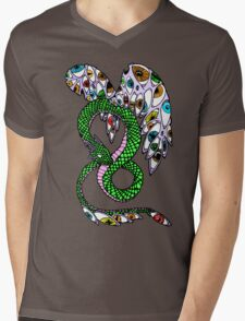 Serpent with Wings of Eyes Mens V-Neck T-Shirt