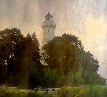 One of many beautiful lighthouses in Door County, WI ©  by Dawn M. Becker