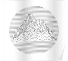 Mountain lines Poster