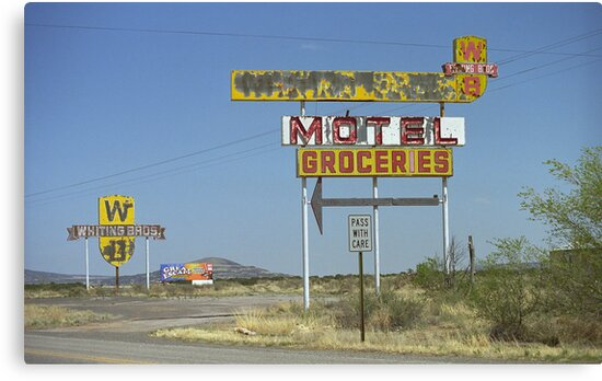 Route 66 - New Mexico Whiting Brothers Gas by Frank Romeo