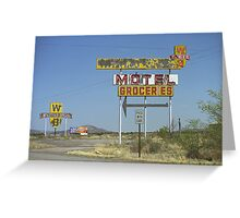 Route 66 - New Mexico Whiting Brothers Gas Greeting Card