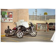 Route 66 - Grants, New Mexico Motorcycles Poster