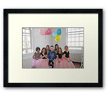 Birthday Dance Party Framed Print