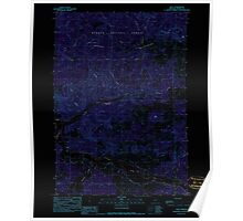 USGS Topo Map Oregon Post 281140 1990 24000 Inverted Poster