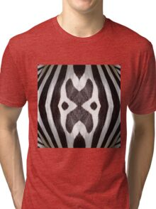 Zebra Texture Pattern made with Photography of a Zebra Tri-blend T-Shirt