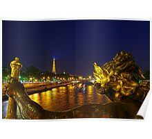 """Paris, View from """"Pont Alexandre III"""" Poster"""