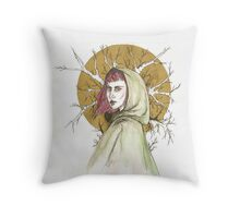 Lady of The Woodlands Throw Pillow