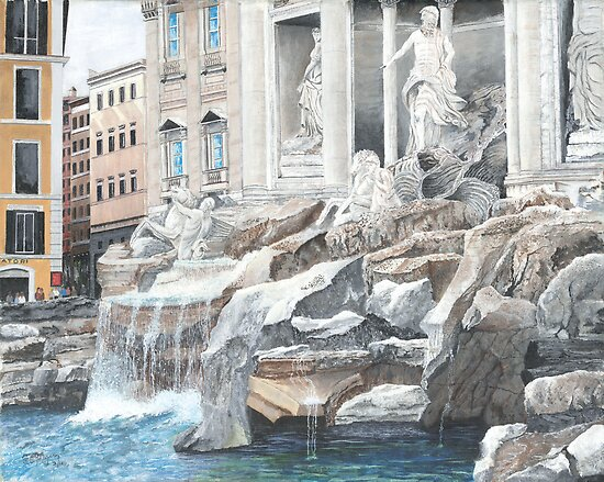 Trevi Fountain, Rome by sby18