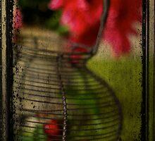 Cherries and flowers by Sonia de Macedo-Stewart