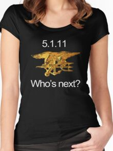 Osama, Done. Who's Next? Women's Fitted Scoop T-Shirt