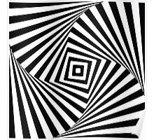 Black and White Optical Illusion Poster