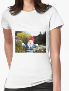 Landscape Gnome Womens Fitted T-Shirt