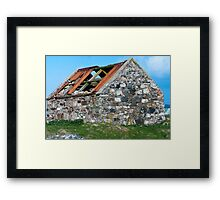 Building, Byre, Barn, Abandoned Framed Print