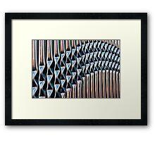 Railings Vertical Framed Print
