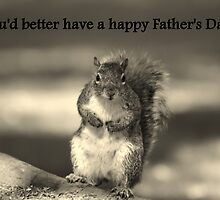 Squirrel father's day card by Esther  Moliné