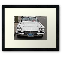 Old 1962 Corvette Front Framed Print