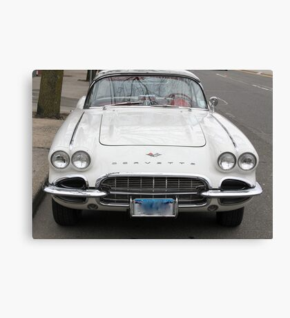 Old 1962 Corvette Front Canvas Print
