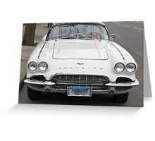 Old 1962 Corvette Front Greeting Card