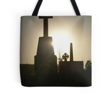 sunset in the cemetery Tote Bag