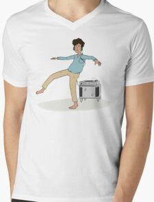 Dancing to the Music Mens V-Neck T-Shirt